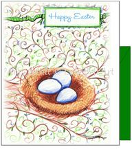Easter - Easter Eggs Greeting Card