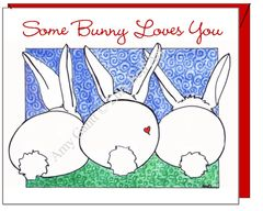 Easter - Bunny Love Greeting Card