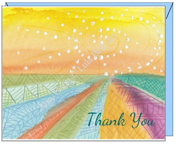 Thank You Patterned Sunset Boxed Note Cards