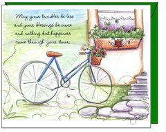 St.Patrick's Day - Irish Bike and Irish Blessing St. Patrick's Day Greeting Card