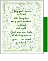St. Patrick's Day - Irish Flowers and Blessing St. Patrick's Day Greeting Card