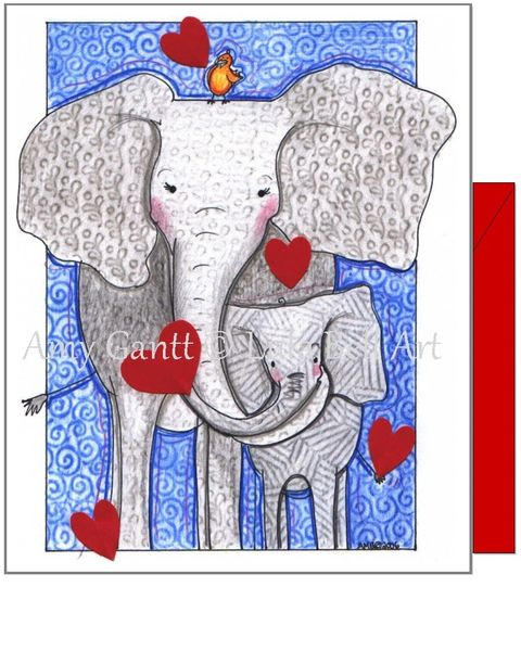 Valentine -Tons of Love Greeting Card