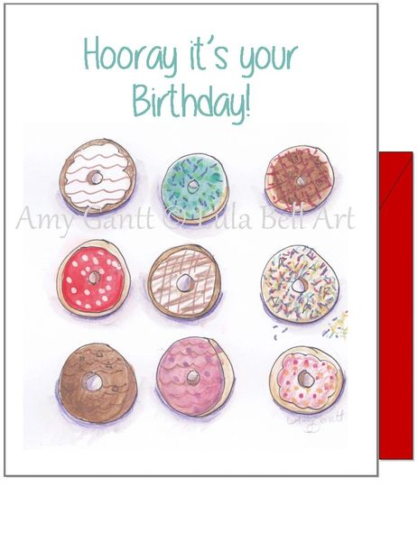 Birthday - Donut Birthday Greeting Card