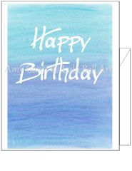 Birthday - Birthday Blues Greeting Card