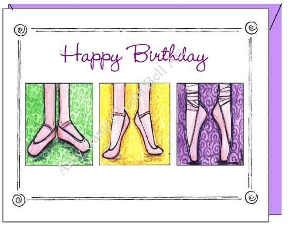 Birthday - Ballet Shoes Greeting Card