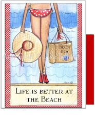 Birthday - Beach Bikini Greeting Card