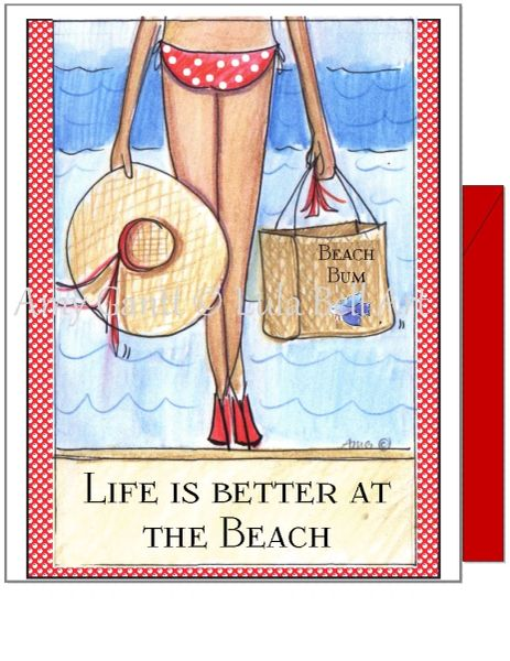 Birthday - Beach Bikini Greeting Card