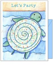 Birthday - Beach Turtle Greeting Card