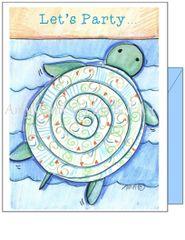 Birthday - Beach Turtle Greeting Card