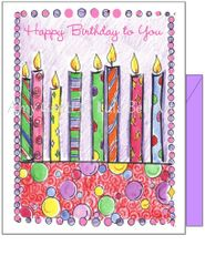 Birthday - Birthday Candles Greeting Card