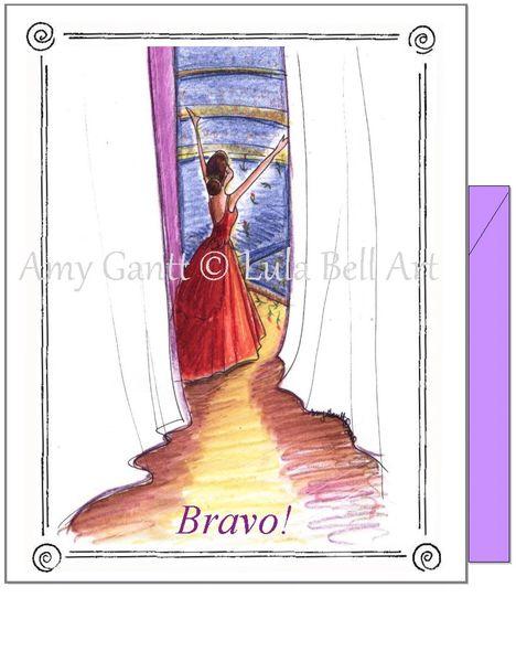 Congratulations - Bravo Curtain Call Greeting Card