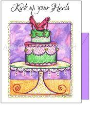 Birthday - Cake With Heels Greeting Card