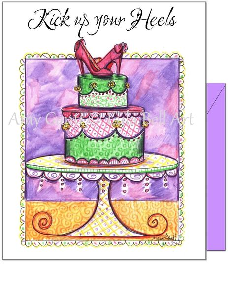 Birthday - Cake With Heels Greeting Card