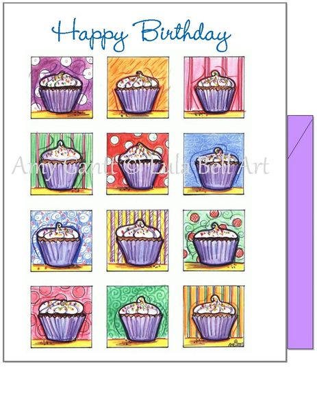 Birthday - Cupcake Greeting Card