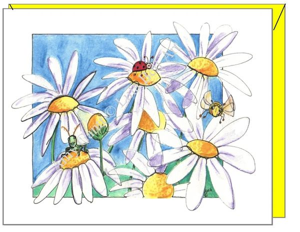 Birthday - Daisy Garden Greeting Card