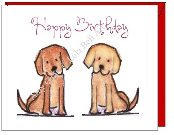 Birthday - Dog Buddies Greeting Card