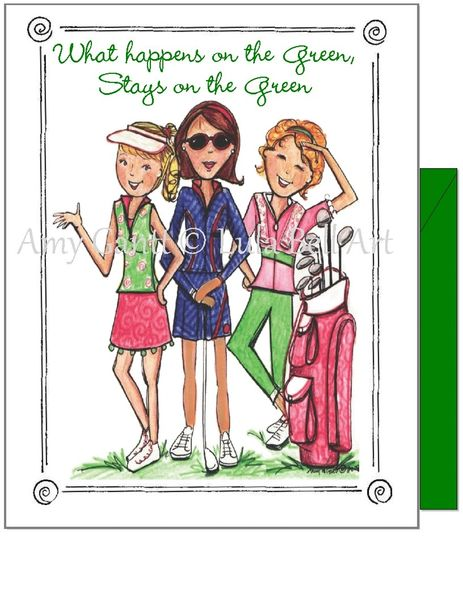 Birthday - Girls on the Green Greeting Card