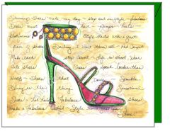 Birthday - Green Stiletto Greeting Card