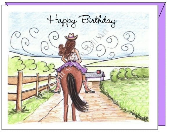 Birthday - Happy Trails Greeting Card