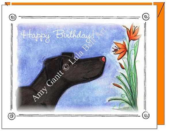 Birthday - Lily Birthday Greeting Card