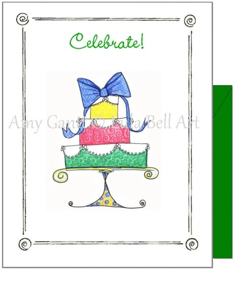 Birthday - Party Cake Greeting Card