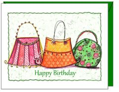 Birthday - Purse Trio Greeting Card
