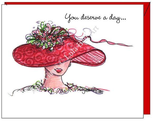 Birthday - Red Diva Greeting Card