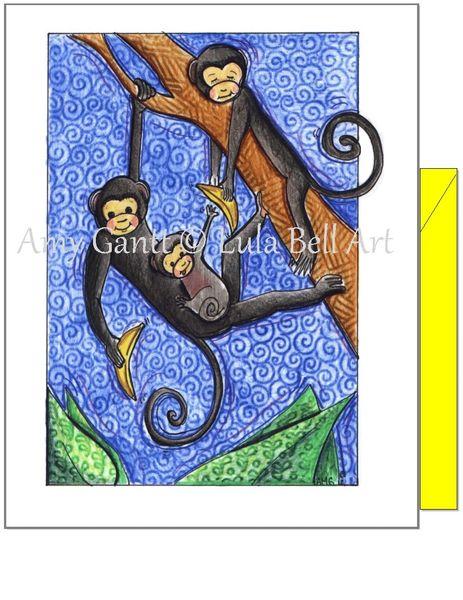 Birthday - Wild Monkeys Greeting Card