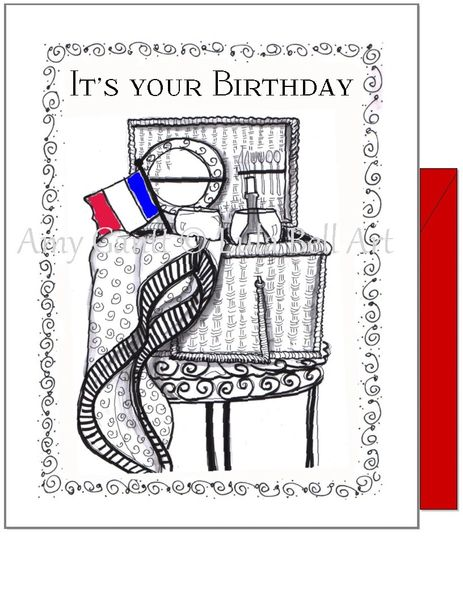 Birthday - Wine Picnic Greeting Card