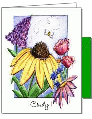 One Bee Boxed Note Cards
