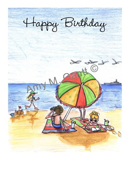 Birthday - Life's a Beach Greeting Card