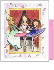 Child Birthday - Ballerina Trio Greeting Card