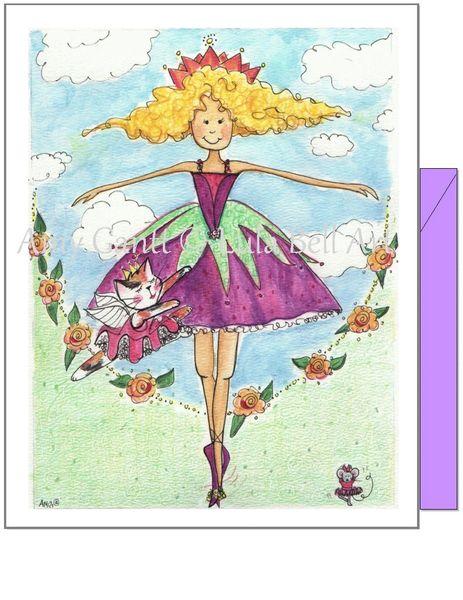 Child Birthday - Ballerina Greeting Card