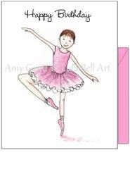 Child Birthday - Ballet Dancer Greeting Card