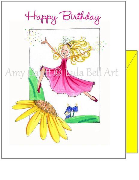 Child Birthday - Fairy Dancer Greeting Card