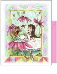 Child Birthday - Garen Tea Party Greeting Card