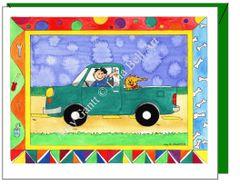 Child Birthday - Green Truck Greeting Card