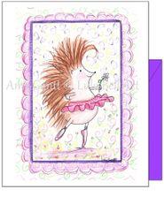 Child Birthday - Hedgehog Dancing Greeting Card