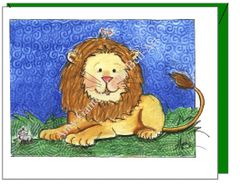Child Birthday - Lion and Friends Greeting Card