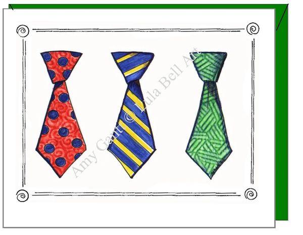 Birthday - Tie Trio Greeting Card