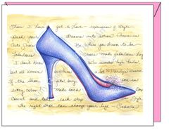 Birthday - Cinderella Blue Slippers Greeting Card