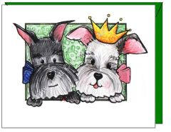 Anniversary - Princess and Buddy Greeting Card
