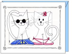 Anniversary - Cat Buddies Greeting Card