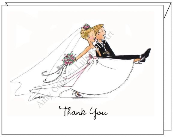 Thank You - Wedding March Boxed Note Cards