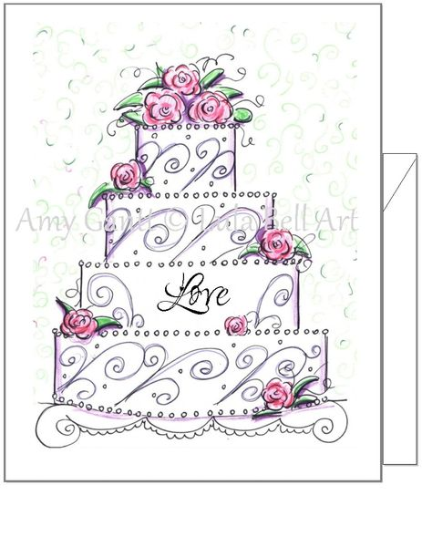 Wedding Love Cake Boxed Note Cards