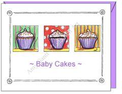 Baby - Babycakes Greeting Card
