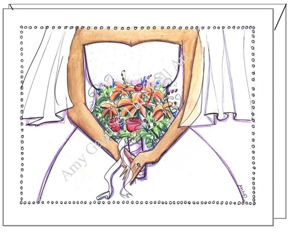 Bridal Shower - Here Comes the Bride Greeting Card