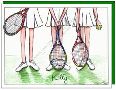 Tennis Trio Boxed Note Cards