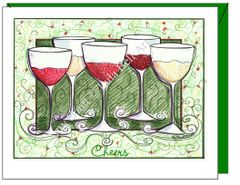 Cheers - Cheers to Friends Greeting Card