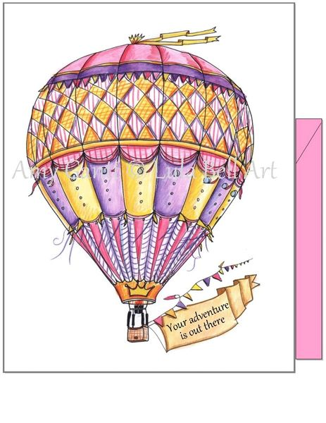 """Congratulations - """"Your adventure is out there"""" Greeting Card"""